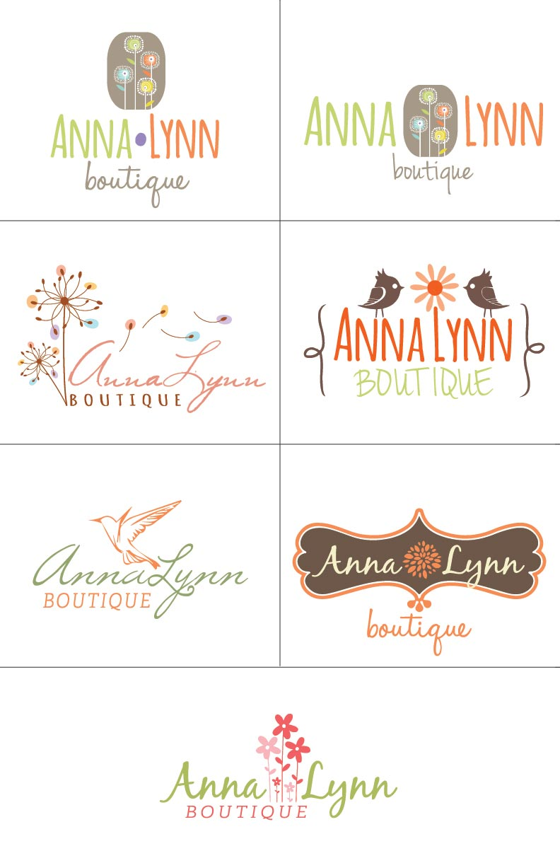 AnnaLynn Boutique logo concepts