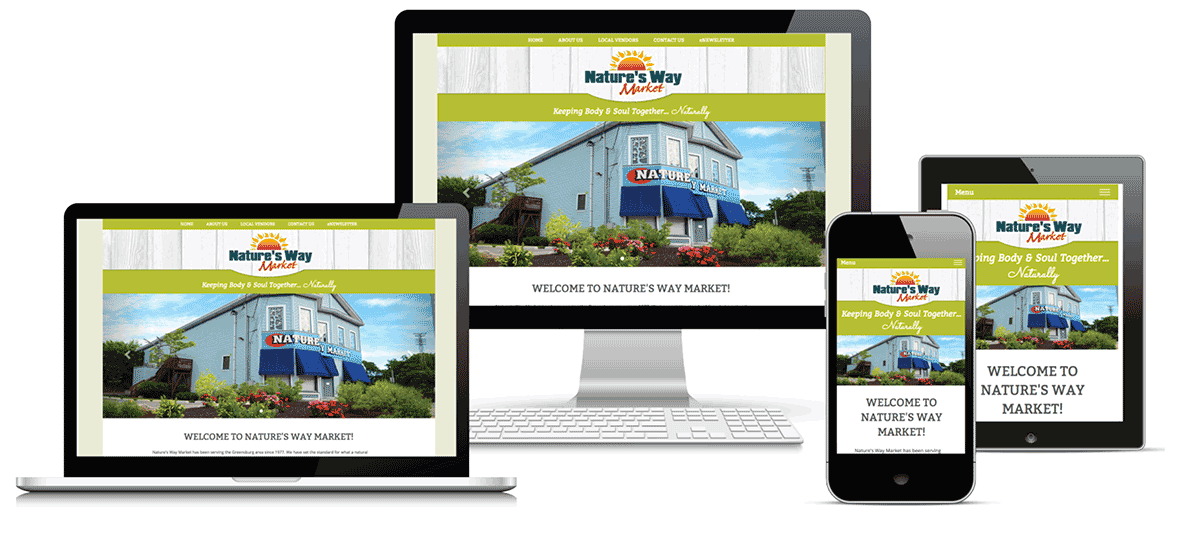 Natures Way Market website